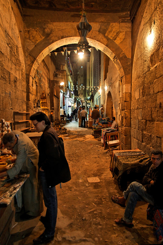 Alley in Khan Al-Khalili Market