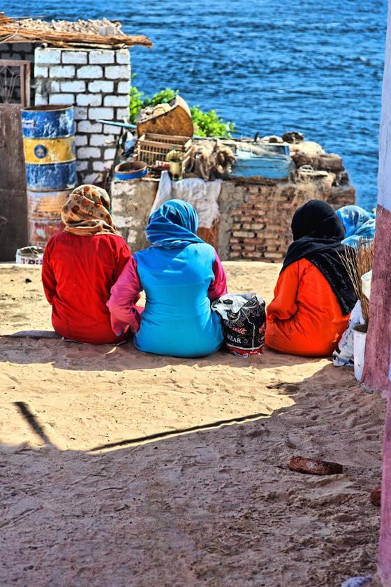 Four Nubian women - near Aswan
