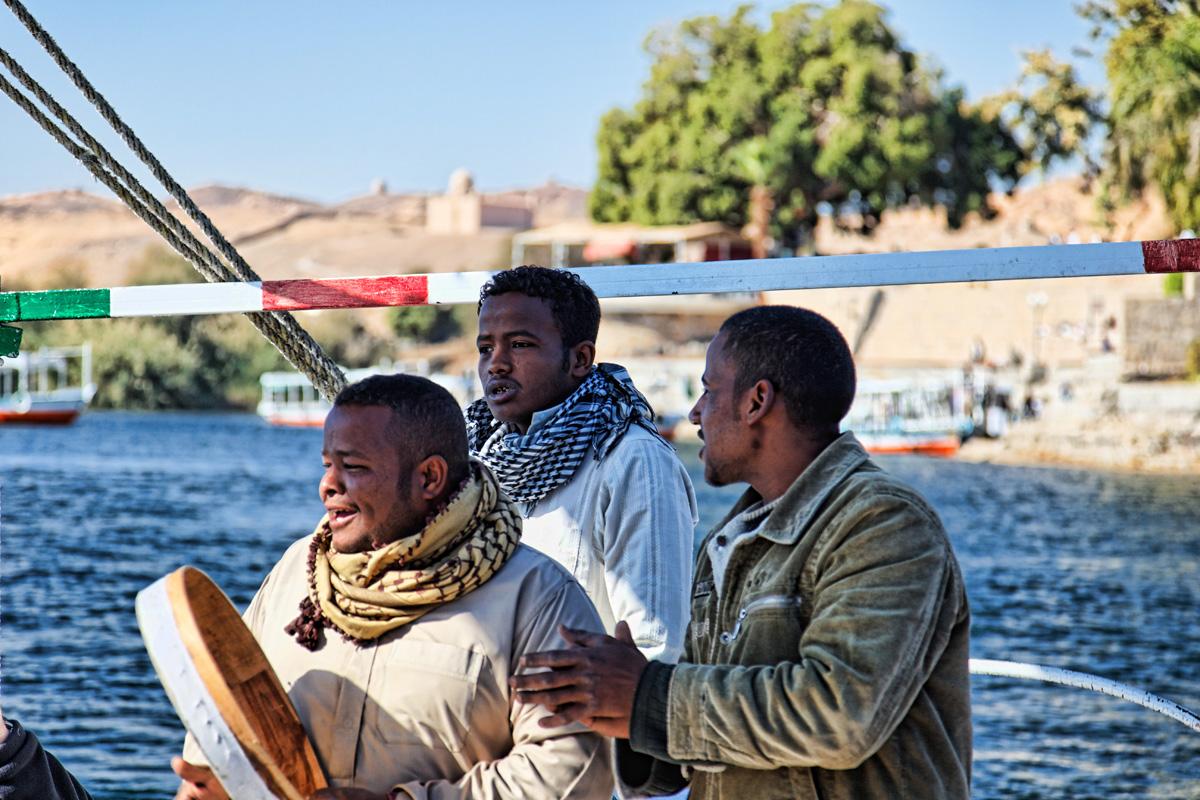 Felucca boaters / singers - Aswan