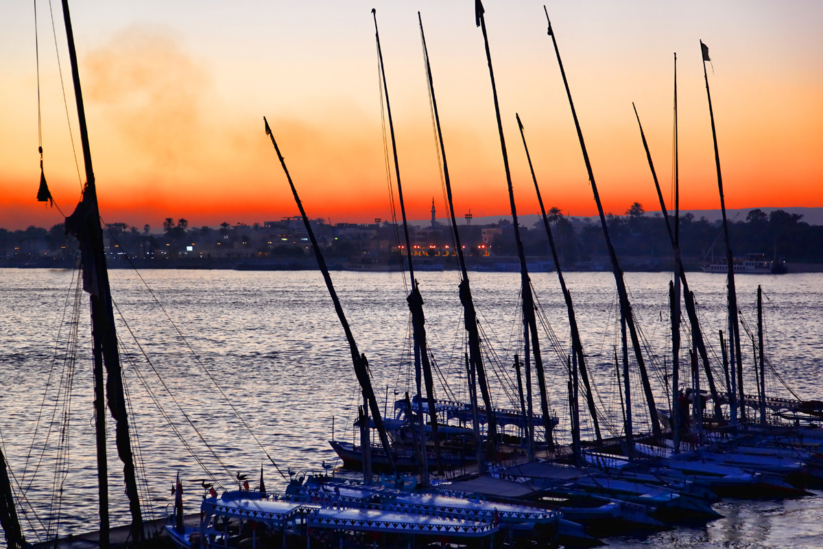 Sunset over the Nile - Luxor